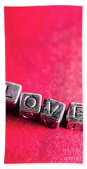 Spelling Out Love Beach Towel