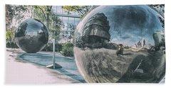 Sphere Reflections Beach Towel