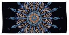 Sphinx Moth Pattern Mandala Beach Towel by Deborah Smith