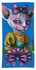 Sphynx Girl Beach Sheet