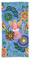 Sphynx Pattern Beach Towel by Akiko Okabe