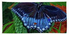 Spicebush Swallowtail Beach Sheet by Susan Duda