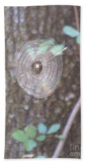 Beach Towel featuring the photograph Spider In The Round by Marie Neder