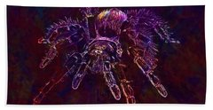 Beach Sheet featuring the digital art Spider Tarantula Arachnophobia  by PixBreak Art
