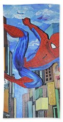 Spiderman Swings Beach Towel