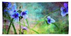Spiderwort Dance 0115 Idp_2 Beach Towel
