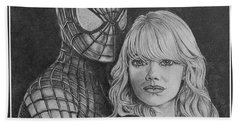 Spidey And Gwen Beach Towel