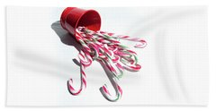 Spilled Candy Canes Beach Towel
