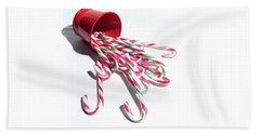 Spilled Candy Canes Beach Sheet