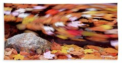 Spinning Leaves Of Autumn Beach Sheet
