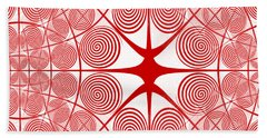 Spiral Abstract 7 Colour Choice Beach Sheet by Barbara Moignard