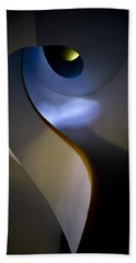 Spiral Concrete Modern Staircase Beach Sheet