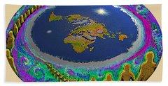 Spiral Of Souls Flat Earth Beach Sheet