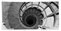 Beach Towel featuring the photograph Spiral Staircase At The Arc by Donna Corless