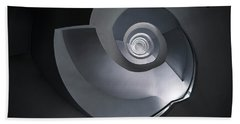 Beach Sheet featuring the photograph Spiral Staircase In Grey And Blue Tones by Jaroslaw Blaminsky