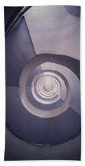 Spiral Staircase In Plum Tones Beach Towel by Jaroslaw Blaminsky