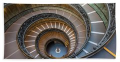 Spiral Staircase In St. Peter's Basilica Beach Towel