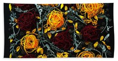 Spiralized Beets And Squash Beach Towel