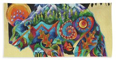 Spirit Bear Totem Beach Towel