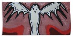 Spirit Crow Original Painting Beach Sheet
