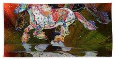 Spirit Horse II Leopard Gypsy Vanner Beach Sheet by Michele Avanti