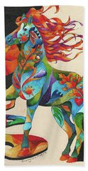 Spirit Horse Totem Beach Towel