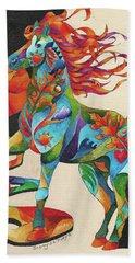 Spirit Horse Totem Beach Sheet