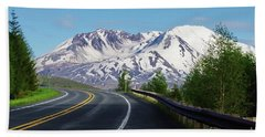 Spirit Lake Highway To Mt. St. Helens Beach Towel