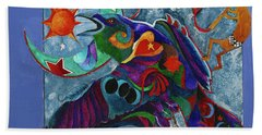 Spirit Raven Totem Beach Towel