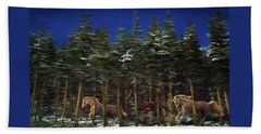 Beach Towel featuring the photograph Spirits Of The Forest by Melinda Hughes-Berland
