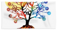 Spiritual Art - Tree Of Life Beach Towel