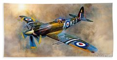 Spitfire Dawn Flight Beach Towel
