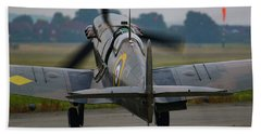 Spitfire Start Up Beach Towel by Ken Brannen