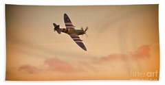 Spitfire Sunset Beach Towel