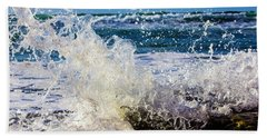 Beach Towel featuring the photograph Splash And Crash by Randy Bayne