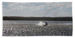 Beach Sheet featuring the photograph Splash At Lake Wollumboola by Miroslava Jurcik