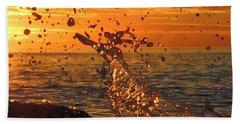 Beach Towel featuring the photograph Splash by Linda Hollis