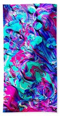 Beach Towel featuring the mixed media Splash Of Color by Monique Faella