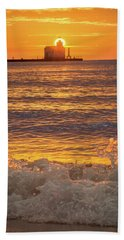 Beach Sheet featuring the photograph Splash Of Light by Bill Pevlor