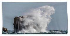 Beach Towel featuring the photograph Splash by Paul Freidlund