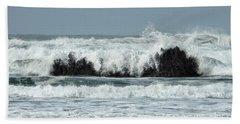 Beach Sheet featuring the photograph Splash by Peggy Hughes