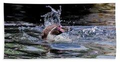 Splashing Humboldt Penguin Beach Sheet