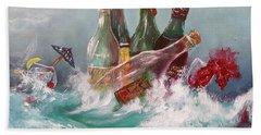 Splattered Wine Beach Towel