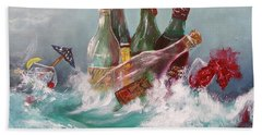 Splattered Wine Beach Sheet