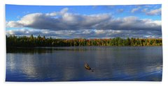 Splendid Autumn View Panoramic Beach Towel by Brook Burling