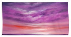 Splendid Purple Beach Towel