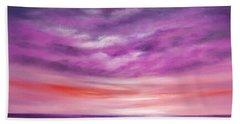Splendid Purple Beach Sheet