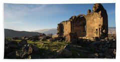 Splendid Ruins Of St. Grigor Church In Karashamb, Armenia Beach Towel by Gurgen Bakhshetsyan