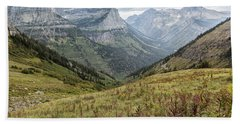 Beach Towel featuring the photograph Splendor From Highline Trail - Glacier by Belinda Greb