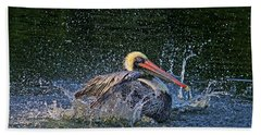 Beach Towel featuring the photograph Splish Splash by HH Photography of Florida